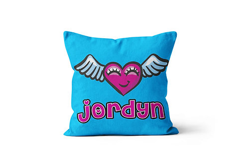 """WS Flying Heart 16""""x16"""" Throw Pillow Cover"""