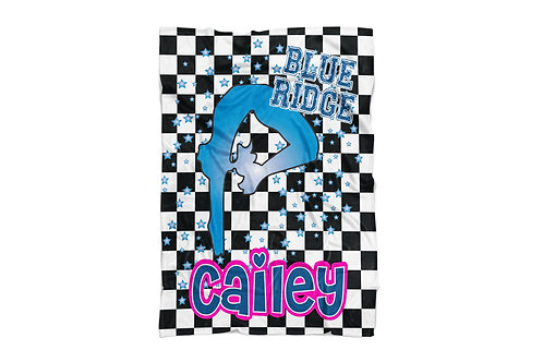 "WS Checkered Radial Camp Gymnast X-Large Sized Blanket (60""x80"")"