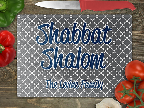 "15"" x 11"" Family Shabbat Cutting Board"