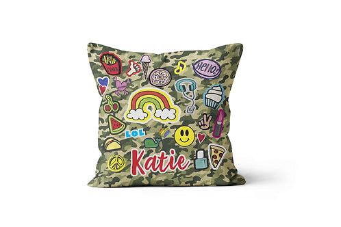 "WS Fun Patches 16""x16"" Throw Pillow Cover"