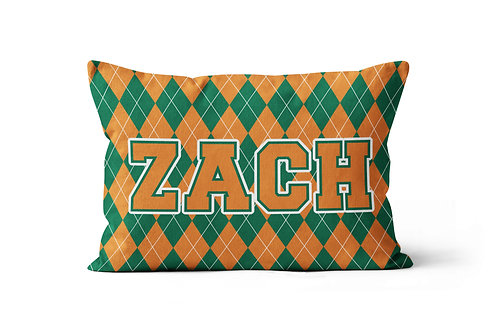 WS College Colors Argyle Pillowcase