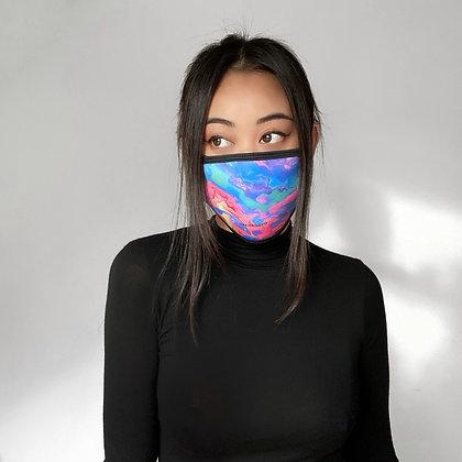 Masques Ovecarael créés sur toile.