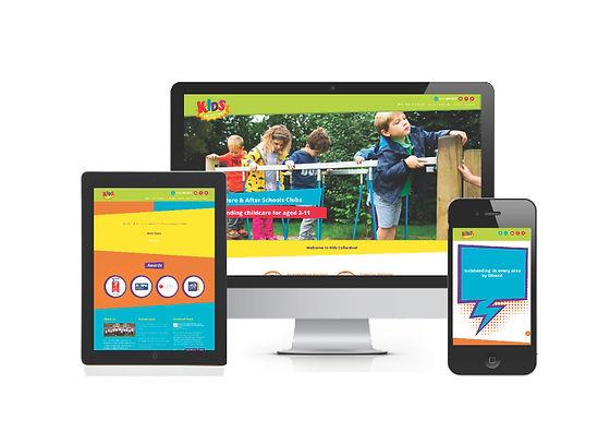 Kids Collective nursery website design