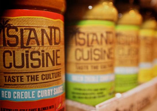 Island Cuisine packaging and branding work
