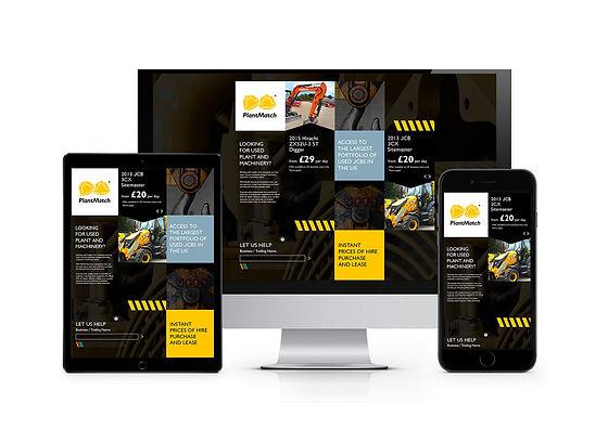 JCB Plantmatch hire website design