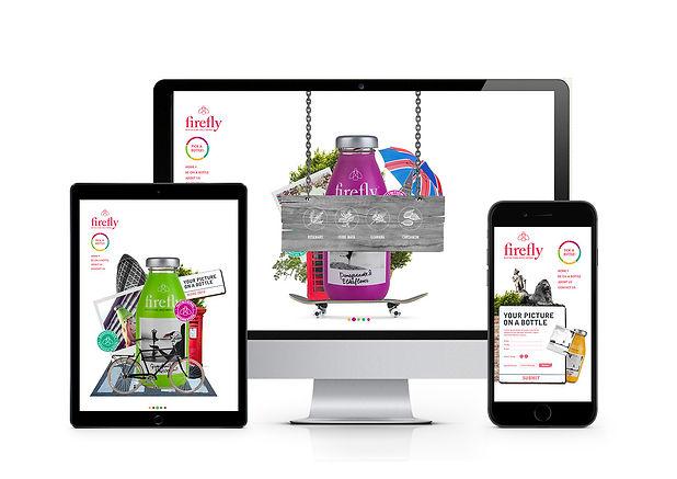 Firefly drinks website design