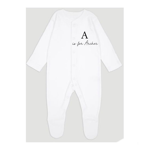Initial & Name Sleep-suit