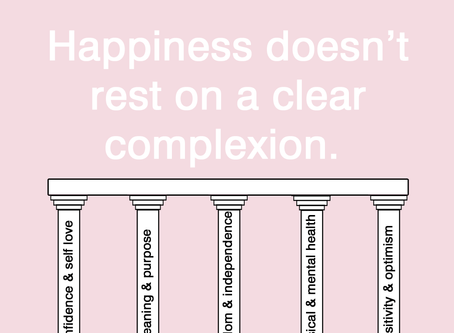Why happiness doesn't rest on a clear complexion