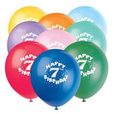 "Balloon Latex 12"" Happy Birthday 7Th 6C"
