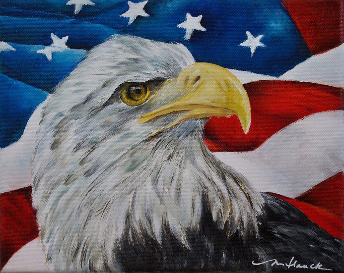 """Pride in America"" matted 8""x10"" matted Fine Art Print"