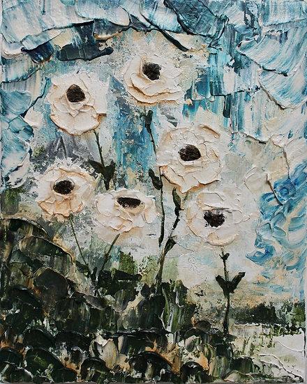 """Poppies on the Hillside"" matted 8""x10"" Fine Art Print"