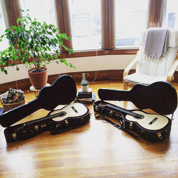 Thrilled to announce the completion our matching guitars by Bay Area luthier, Glenn Canin