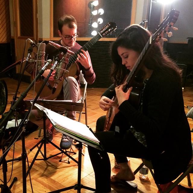 Recording part 1! 🎬 #excursions #chambermusic #classicalguitarduo #latergram #studioA #fantasystudi