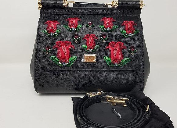 Dolce&Gabbana /Sicily/ Classic nera rose rosse