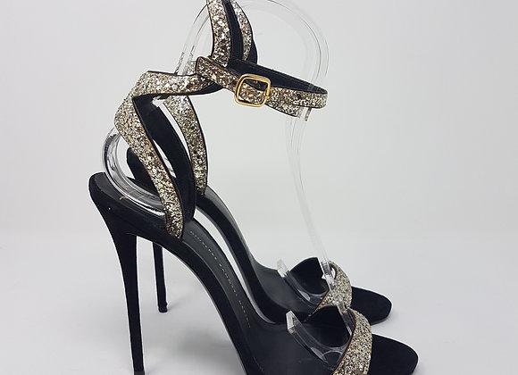 Zanotti sandalo oro glitter Nr. 40