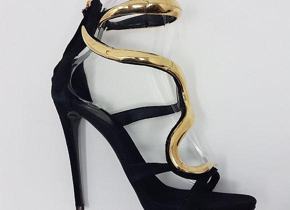 Zanotti sandalo venere nero due bracciali