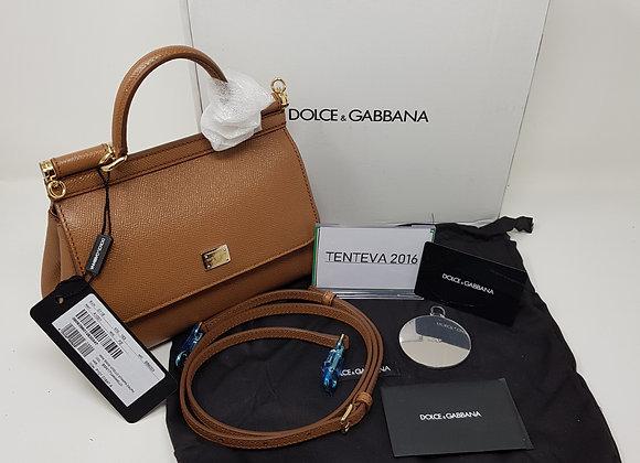 Dolce & Gabbana Sicily Small Cuoio