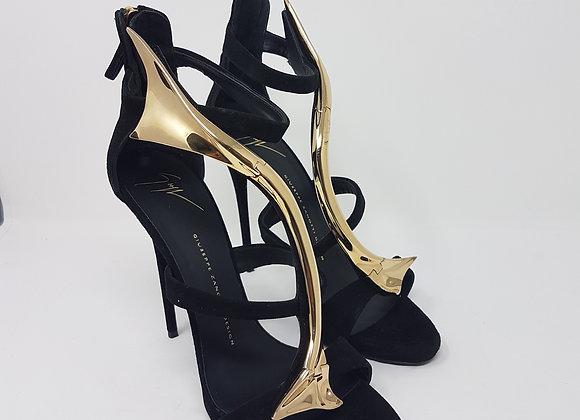 Zanotti sandalo fascia oro