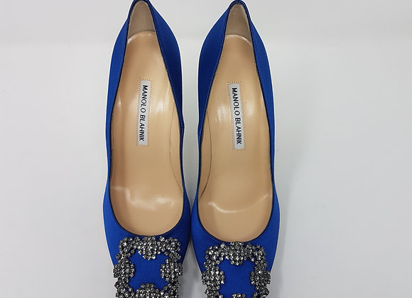 Manolo Blahnik tacco 105 blue royale
