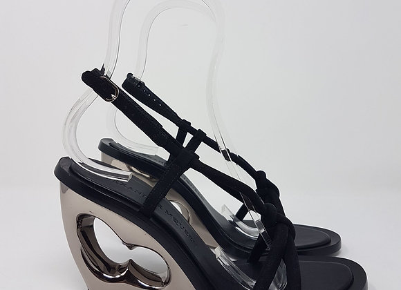 Alexander MC Queen sandalo zeppa nera Nr. 38