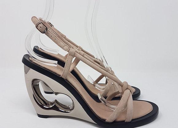 Alexander MC Queen sandalo zeppa beige Nr. 38