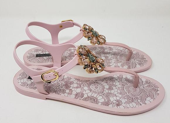 Dolce & Gabbana Infradito Rosa Gomma