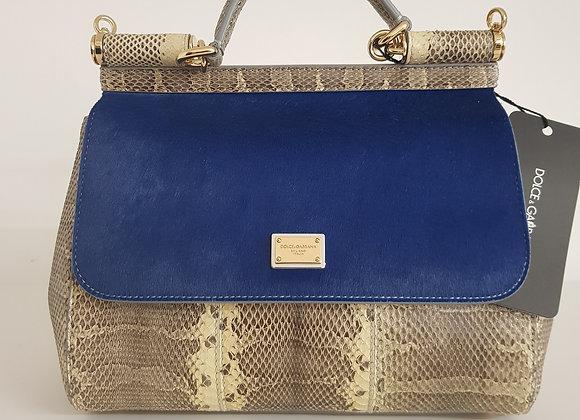 Dolce & Gabbana Miss Sicily Media Pitone blu-marrone