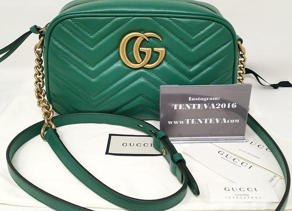 Gucci Camera Bag Verde Pelle