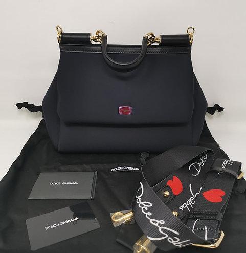 Dolce & Gabbana Sicily Media Neoprene Nera