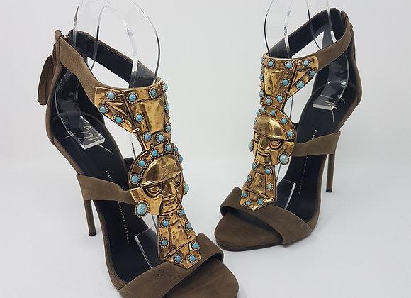 Zanotti sandalo azteco tortora