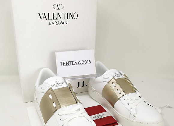 Valentino Sneakers Bianche/Dorate Nr 35