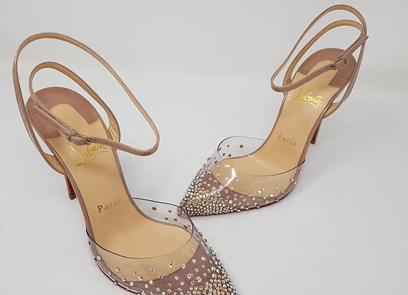 Louboutin Spikaqueen Nude Tacco 100
