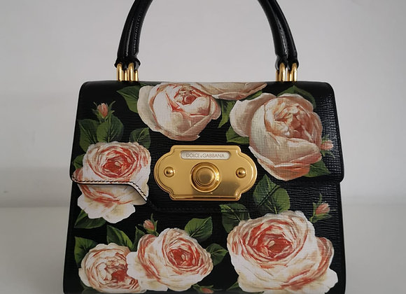 Dolce & Gabbana Welcome Bag Nera Fantasia Fiori
