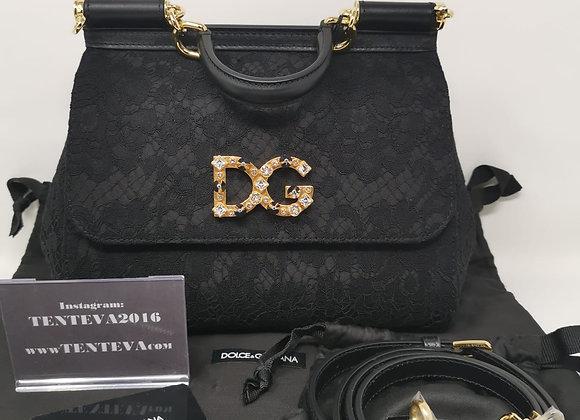 Dolce & Gabbana Sicily Media Nera Tessuto