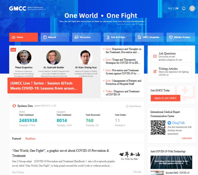 Global MediXchange for Combating COVID-19