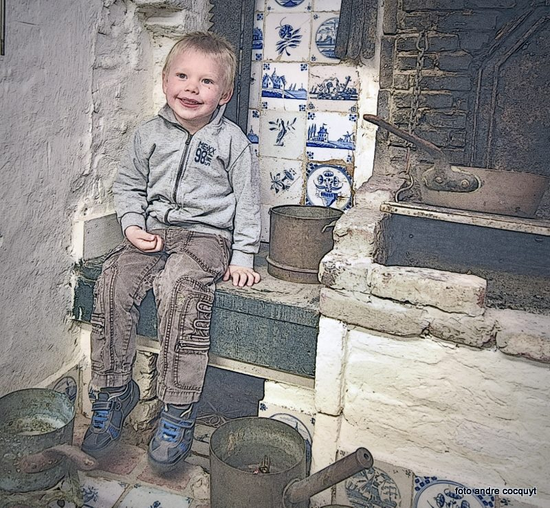 Huisje van Majutte kleinzoon Remi