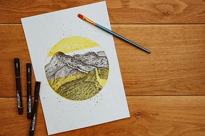 Lake District Illustration Art