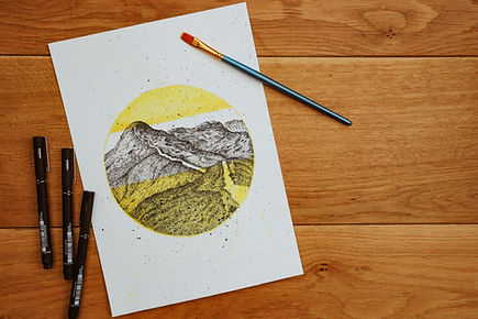 Lake District Illustration Art