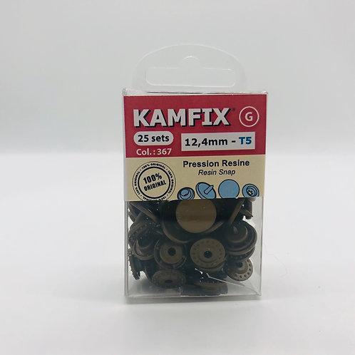 Pression Kam Fix - 25 Sets - 12,4mm - T5 - Moka