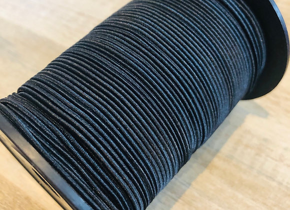 Bobine cordon élastique - 100 m (1,5m) - noir