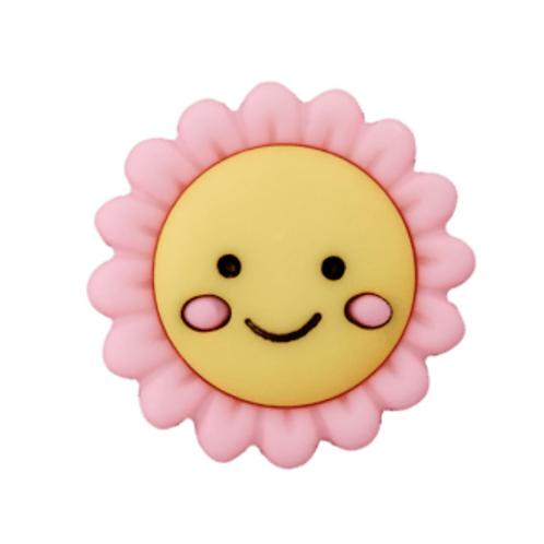 bouton - fleur - rose  -20mm - 1,85€/pce
