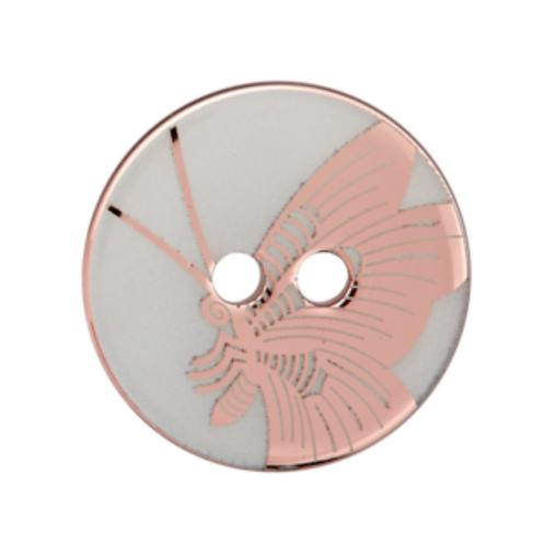 bouton - papillon nacré bronze  - 23mm - 2,30€/pce