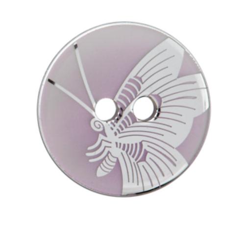 bouton - papillon nacré rose  - 23mm - 2,30€/pce
