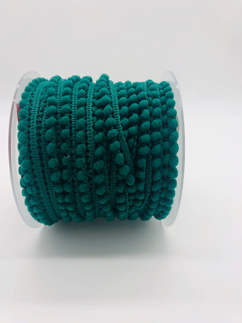 Galon pompon micro 10mm - Vert