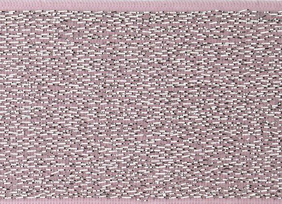 Elastique Rose Argenté - 4cm - 2,5€/m