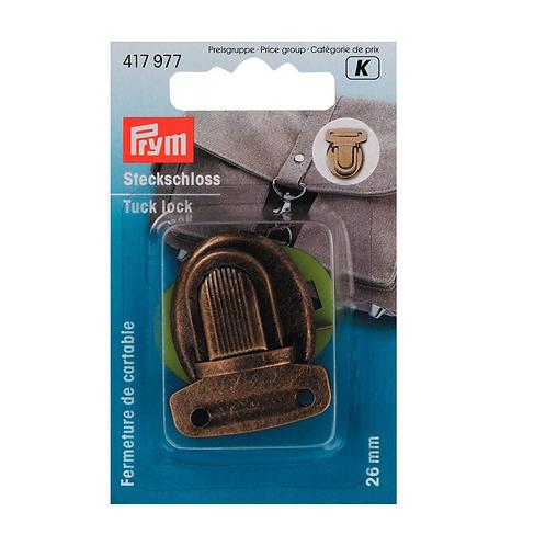 Fermeture de cartable - 26mm - Laiton antique