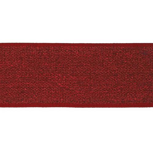 Elastique Rouge Argenté - 4cm - 2,5€/m