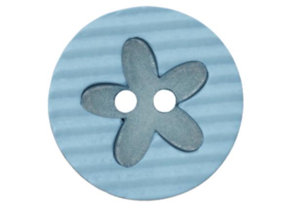 bouton - fleur bleue -20mm - 1,2€/pce