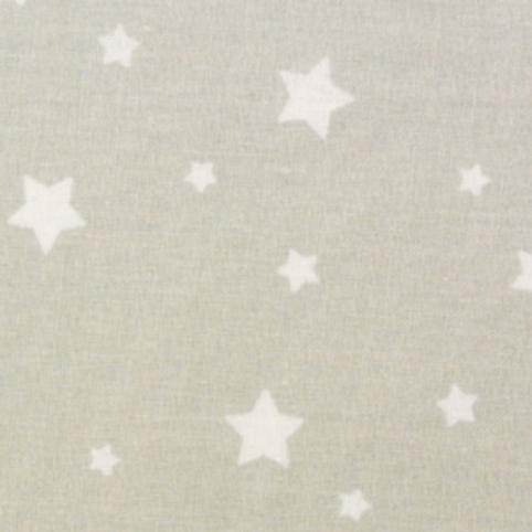 Coton - Zetoile lin/blanc  -  Coupon 50cm/150cm