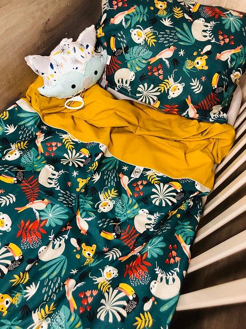 Housse de couette bébé & sa taie d'oreiller (125/90)